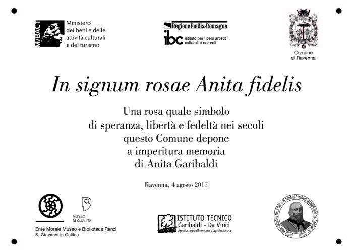 Rosa Anita Garibaldi TARGA